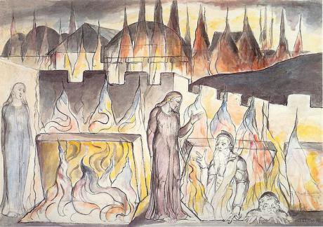 William Blake, Dante's Inferno, Canto X.