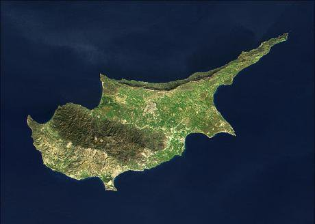 Cyprus from space.