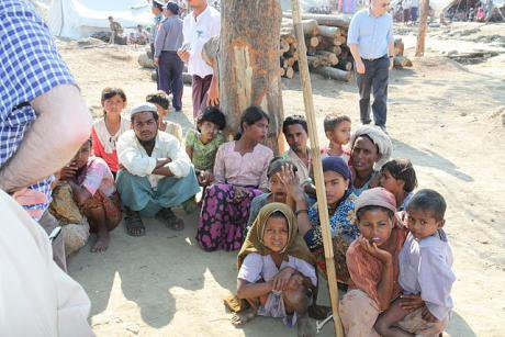 Displaced Rohingya people in Rakhine State, 2012.