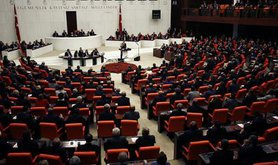 Grand national assembly of Turkey main chamber.