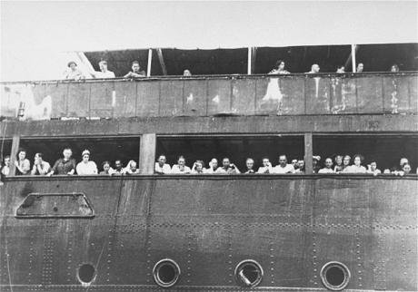 Jewish refugees aboard MS St. Louis, 1939.