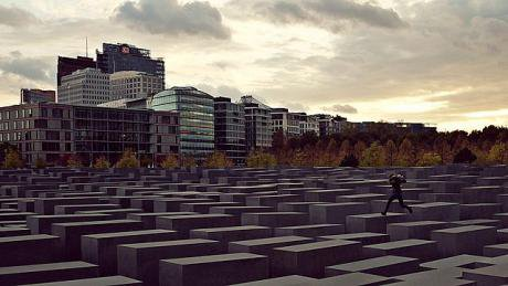 640px-Person_jumping_at_the_Memorial_to_the_Murdered_Jews_of_Europe.jpg