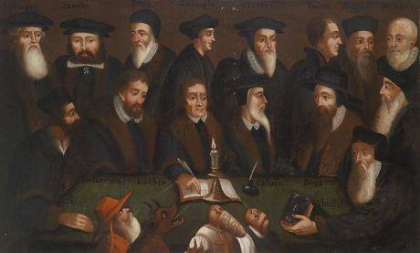 Reformation group portrait,17th century.