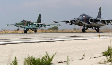 Russian Sukhoi Su-25 at Latakia, October, 2015.