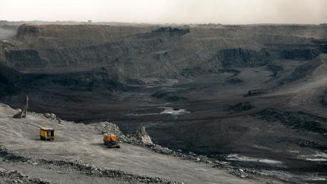 Coal mine of Tavan Tolgoi, 2010.