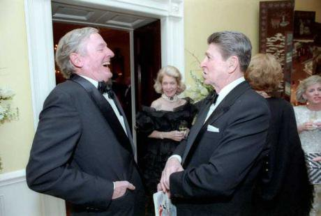William F.Buckley with President Ronald Reagan in 1986.