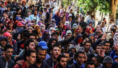 Cairo University students rally against police violence, December 2014