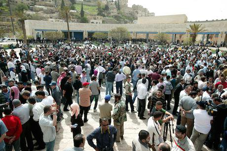 A youth rally & sit-ins in the city centre of Amman. Demotix/Mohammad Magayda. All rights reserved.