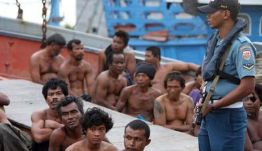 Four ships captured after illegal fishing in Thailand.