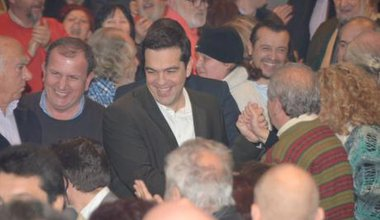 Alexis Tsipras' first pre-election speech, December 29, 2014.
