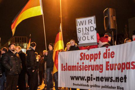 Anti-Islam protest, Cologne, 2015.