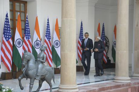 US President Barack Obama in India. Ranjan Basu/Demotix. All rights reserved