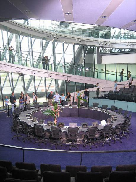 The Chamber of the Greater London Assembly.