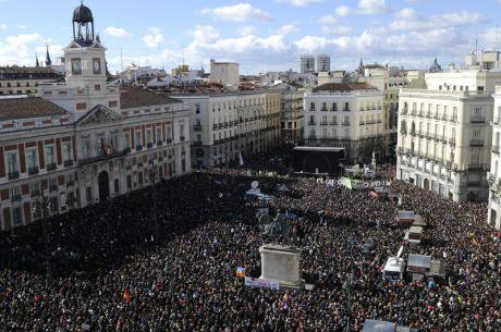 The biggest show of support yet for the anti-austerity party in Sol Square.
