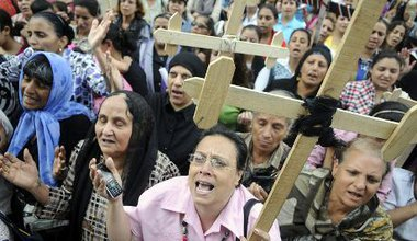 Egypt's Copts gather in April 2013