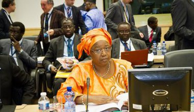 Senegalese Minister of Health at the Ebola conference in Brussels, March 2015.