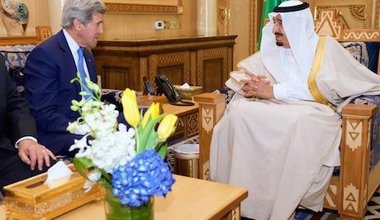 US Secretary of State with King Salman of Saudi Arabia. Demotix Live News/Demotix. All rights reserved.