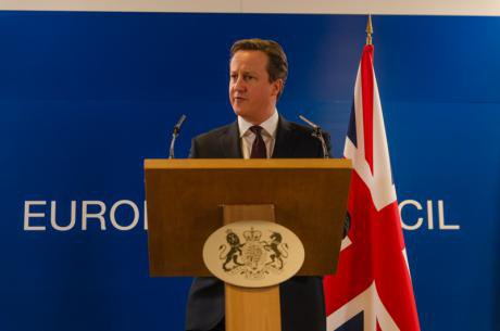 British PM at European Summit, March 2015.
