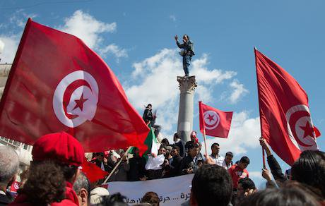 Thousands of people rally against terrorism in Tunisia. Hamideddine Bouali/Demotix. All rights reserved.