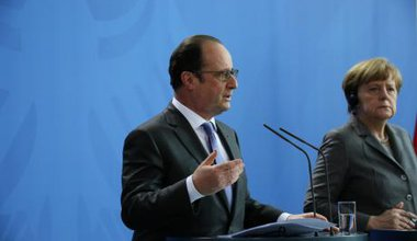 Merkel and Hollande at the 17th German-French council of ministers, March, 2015.