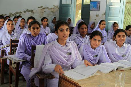 Image: girls in school in Khyber Pakhtunkhwa, Pakistan. Flickr/Vicki Francis/DfID. Some rights reserved.