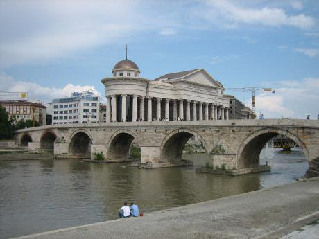 Skopje's Stone Bridge.