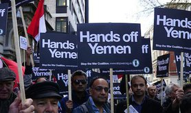A protest arranged outside the Saudi Arabian Embassy in London. S Li/Demotix. All rights reserved.