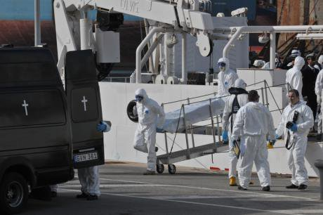 24 Libyan bodies brought to Malta, April 20.