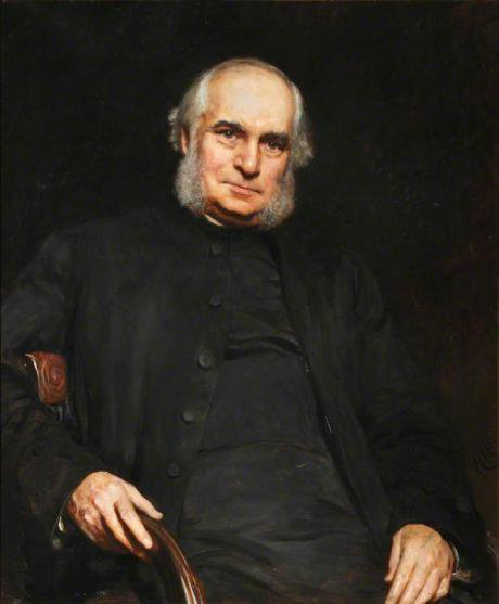 Portrait of William Stubbs by Hubert von Herkomer in Bodleian Library (1885).