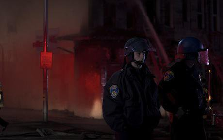 Police on the streets of Baltimore. Demotix/Aidan Walsh. All rights reserved.