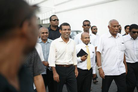 Pres. Mohamed Nasheed summoned to police HQ in 2012.