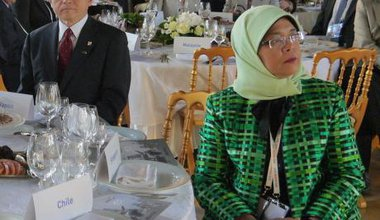 Singapore presidential candidate Halimah Yacob, in 2012.