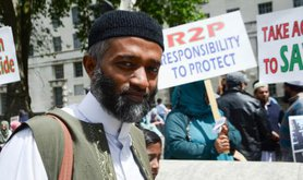 Rohingya Muslims demonstration of solidarity, London.