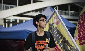 Joshua Wong, 2015. Demotix/David Smith. All rights reserved.