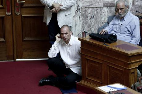 Yanis Varoufakis at Syriza parliamentary group, June 16, 2015.