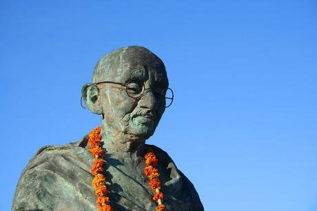Ghandi statue Nickerie, Surniname.
