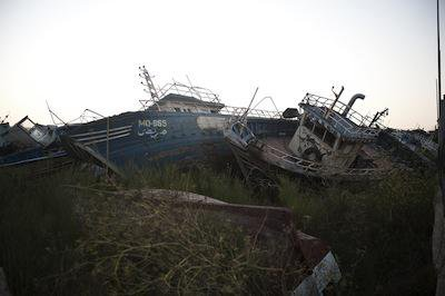 Boat cemetery, Lampedusa. Demotix/Michele Lapini. All rights reserved.