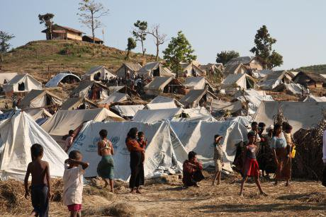 Taung Paw Camp in Rakhine State, in 2012.