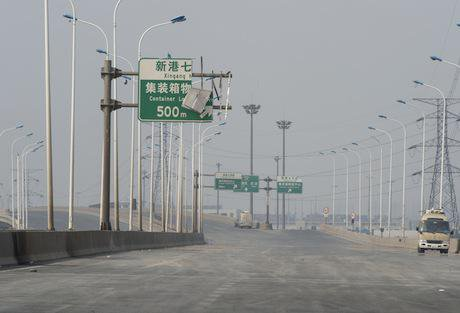 Tianjin Port. Demotix/DemotixLiveNews4. All rights reserved.