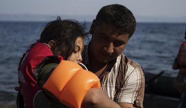 Refugees arrive on Lesbos, August 2015. Demotix/Tasos Markou. All rights reserved.