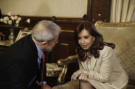Cristina Kirchner meets Lula in Buenos Aires. Demotix/Filippo Fiorini. All rights reserved.