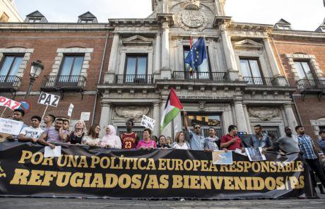 Outside Madrid's ministry of foreign affairs, September 2015.