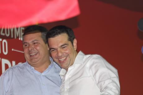 Alexis Tsipras with Panos Kammenos,September 2015