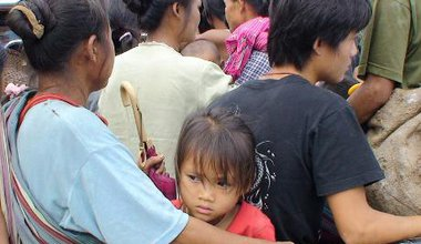 Ethnic Karen refugees on the Burma - Thai border
