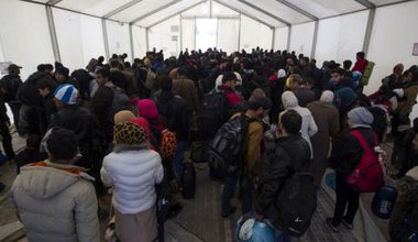 5,000 refugees waiting at the border in Idomeni, Greece, November 2015.