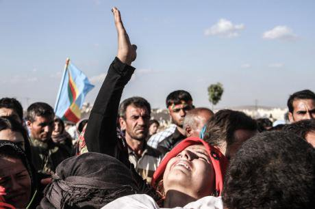 Funeral in Kobane, November 6, 2015.