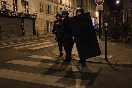 Police in Paris.