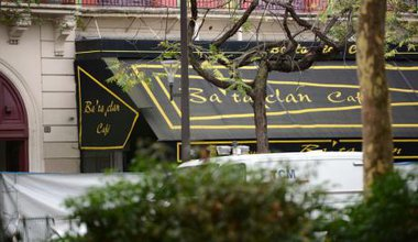 Police investigations outside the Bataclan concert hall in Paris, November 14.