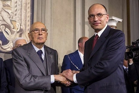 President Napolitano and PM Letta. Flickr/Enrico Letta. Some rights reserved.