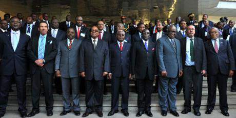SADC summit in Mozambique in 2013